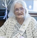 Frances Stevens ... enjoyed crocheting; at 100