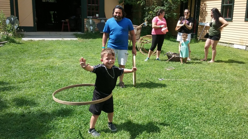 Hooping it up at New Hampshire Farm Museum's Children's Day