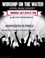Milton 'Worship on the Water' concert set for July 25
