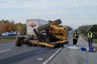 I-295 crash into overpass snarls Saturday traffic in Portland