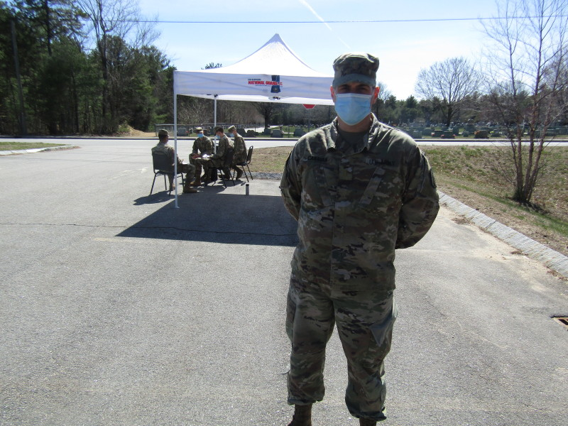 Guardsmen in Rochester say those wanting tests are few and far between