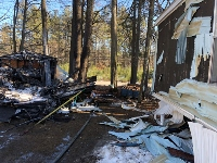 Firefighters knock down Lebanon shed fire that threatened home