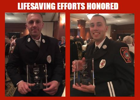 Milton firefighters, police officer honored for their efforts