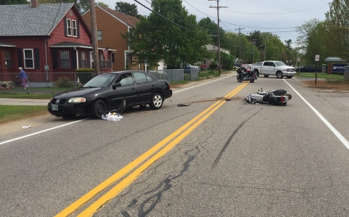 Elderly Rochester motorcyclist seriously hurt in crash