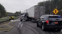 Police on lookout for negligent driver who forced tractor-trailer to jackknife