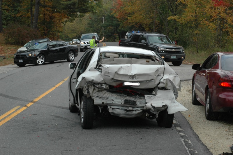 Woman sustains serious injuries in rear-end crash
