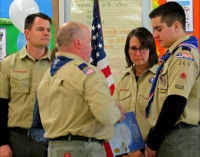 Court of Honor installs town's 1st Eagle Scout in 20 years