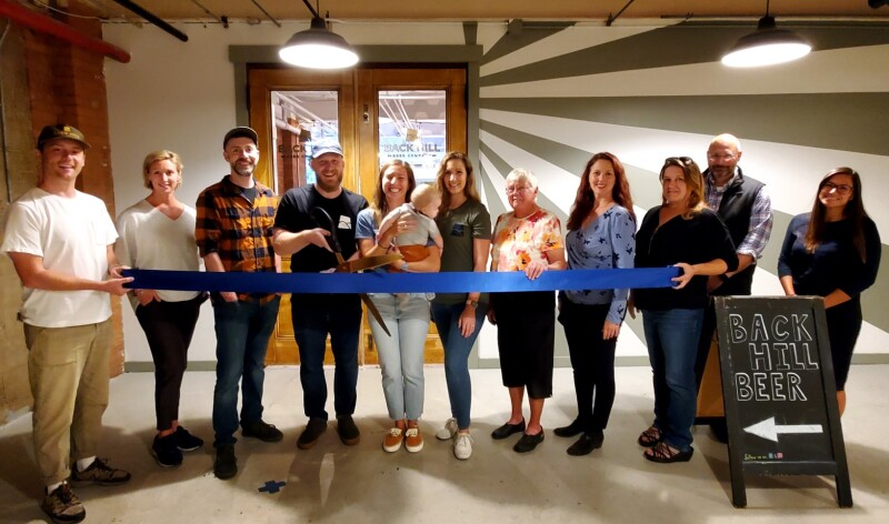 Back Hill Beer Company celebrates one-year anniversary with ribbon cutting