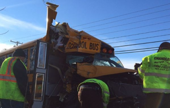 School bus driver hurt, monitor, 3 students transported in Sanford crash
