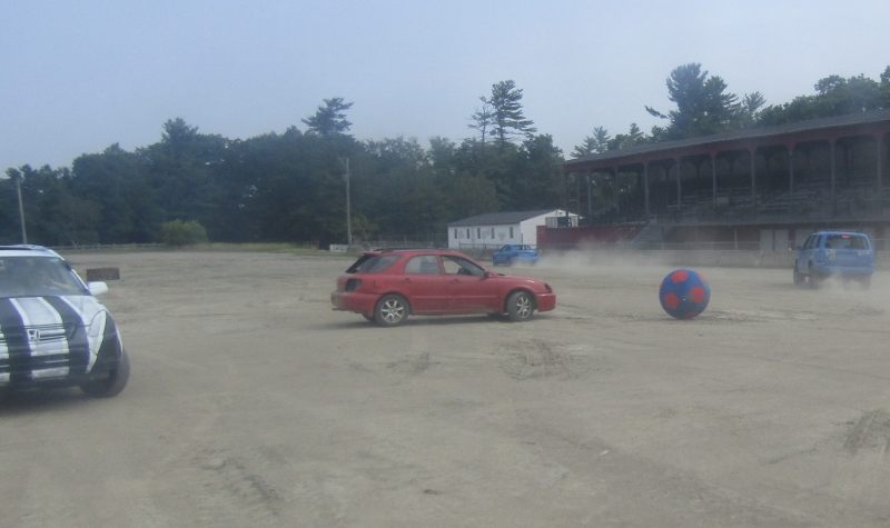 Car soccer at the Fairgrounds' Summer Showdown is gonna be a kick