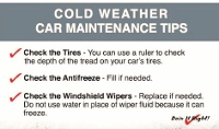 Cold weather tips to keep your car running smoothly