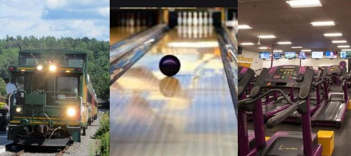 On Monday, gym rats rejoice, bowling strikes again and train rides gather steam