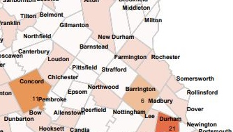 UNH active cases trend downward, while Barrington has most in Greater Rochester