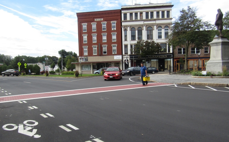 Calming down downtown: Striping, signage aim to slow traffic, make streets safer