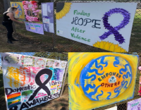 Candlelit walk at Hanson Pines highlights Domestic Violence Awareness Month