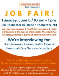 Information on Easterseals Job Fair June 8
