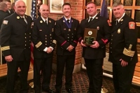 City firefighters honored for defusing suicide try on General Sullivan Bridge