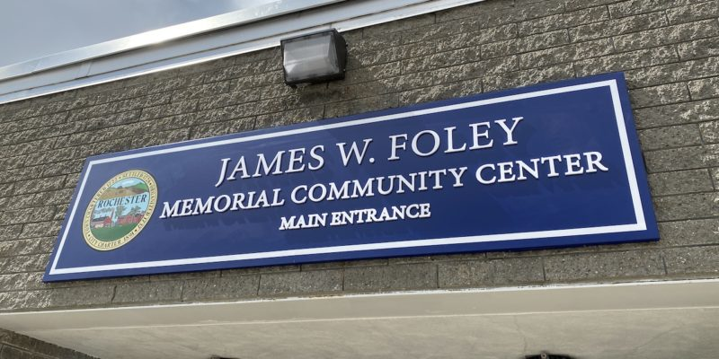 With sign in place, James W. Foley Memorial Community Center now officially open