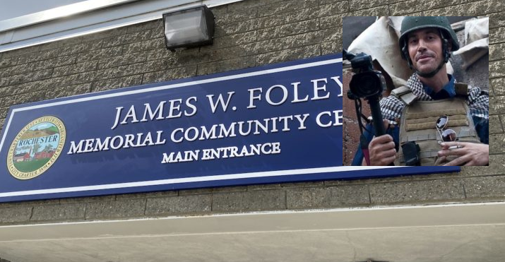 Emotional dedication of James W Foley Memorial Community Center this afternoon