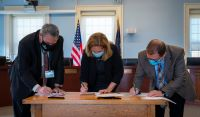 Tri-city mayors sign historic pact pledging to work together to protect Great Bay