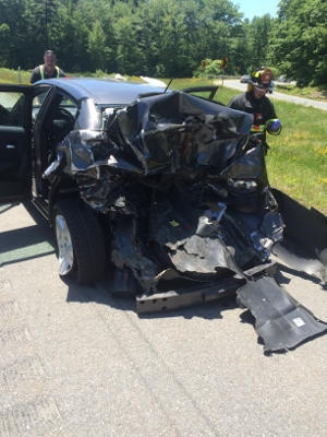 Five hurt, two badly in Hampton crash involving Rochester man