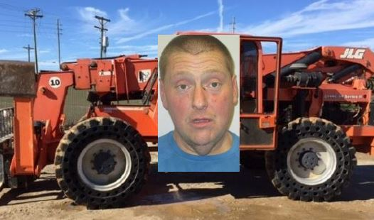 Transient known well by police charged in forklift theft