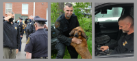 After a career of training K9 trackers, Officer Mackenzie calls it a career, himself