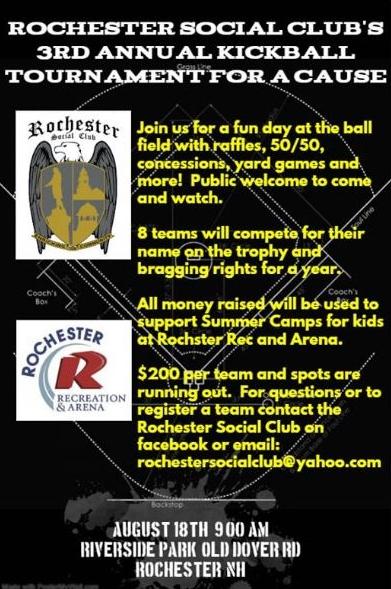 Kickball fund-raiser set for Aug. 18 at Riverside Park