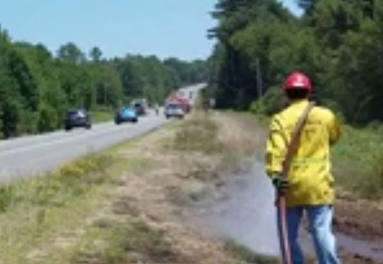 Sparks from blown truck tire blamed in Lebanon brush fires