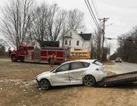 Lebanon man injured after colliding with school bus