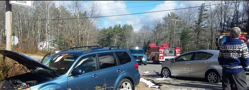 Two sent to hospital after head-on crash on Route 202