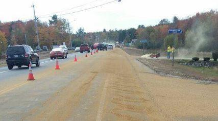 Fluid spill snarls Saturday traffic along Route 202