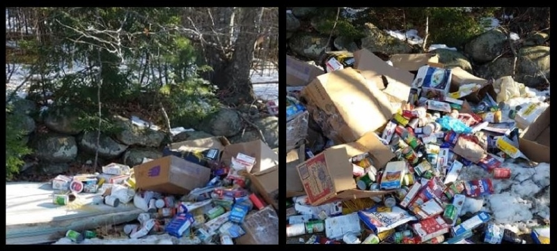 Food for thought: Bizarre dumps of food items reported in Lebanon, Farmington