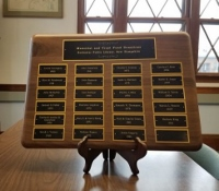 Rochester Public Library plaque honors trust fund partners