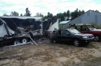 Camper fire that destroyed trailer, vehicles ruled arson