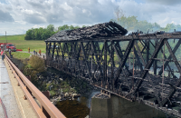 Historic Aroostook County covered bridge destroyed by fire