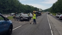 Hit-and-run crash probe leads to eight-car pileup on I-295