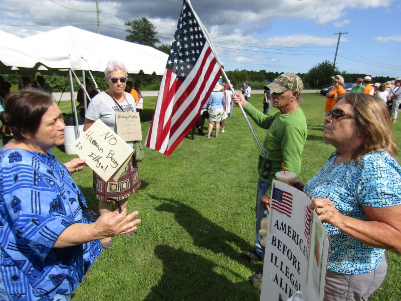 Solidarity Walk ends with mostly peaceful vigil outside Strafford County Jail