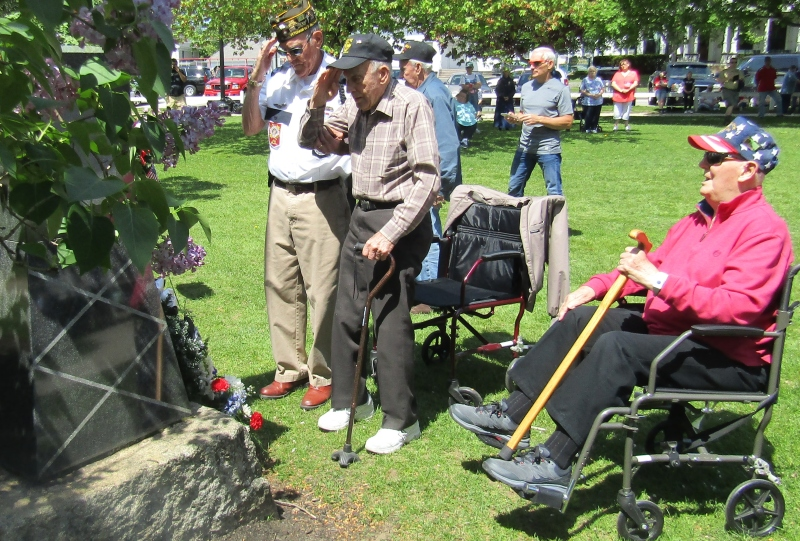 A grateful Rochester pauses to salute its war dead while honoring its WWII heroes