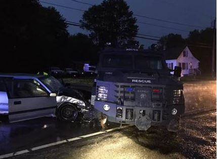 Milton man injured in collision with SWAT vehicle
