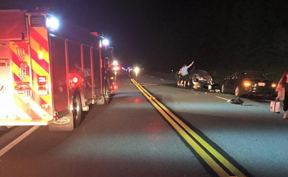 Miraculously, only one hurt in four-car crash on Rt. 16