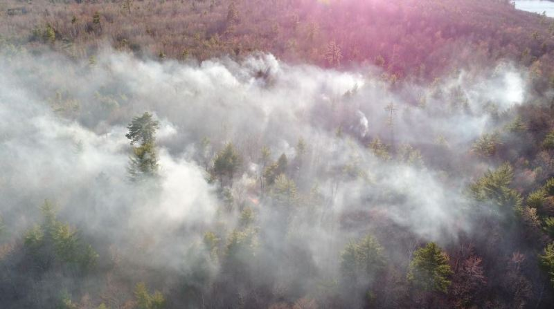 Milton firefighters use drone to find deep woods brush fire