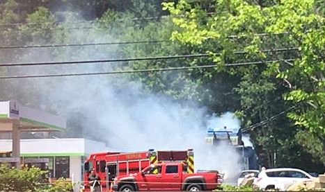 Trash truck fire at Cumberland Farms closes store for hours