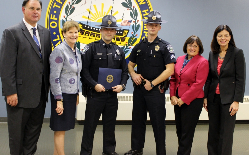 Milton Police Officer honored for bravery for trying to save man's life