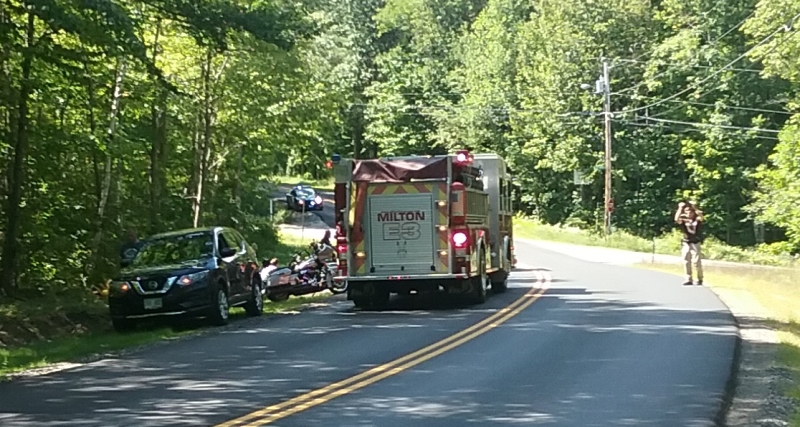Motorcyclist injured in Milton crash on Route 75