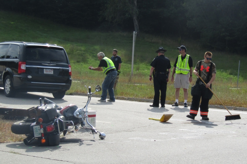 Wakefield motorcyclist seriously hurt in Milton crash