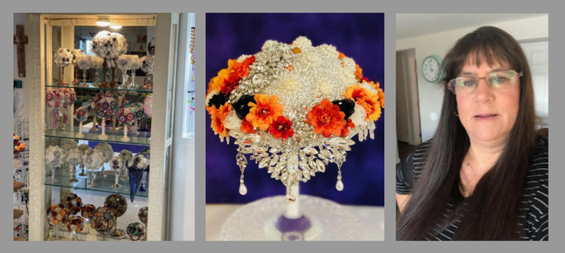 Milton crafter's wedding bouquets bring joy - and light - to that special day