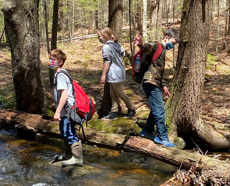 MES fifth-graders enjoy a spring field trip to Case Road Conservation Land