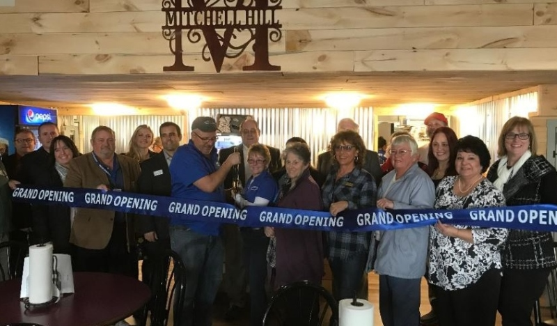 Ribbon cutting ceremony makes it official for Mitchell Hill BBQ