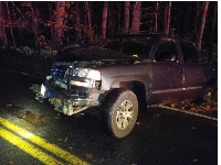 Pickup truck takes out utility pole in early morning crash
